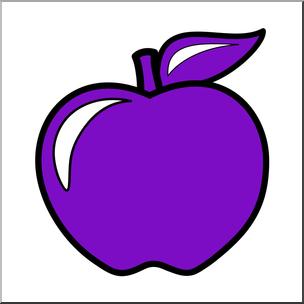 Colors clipart violet. Clip art apple color
