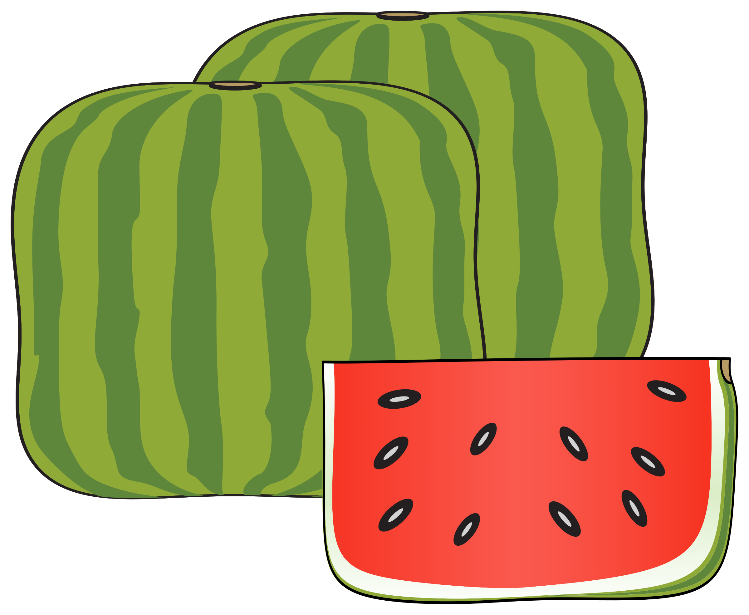 Watermelon clipart carton. Cubical icons png free