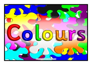 Colors clipart word. Colours teaching resources and