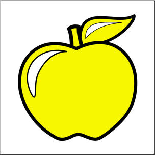 Clip art apple color. Colors clipart yellow