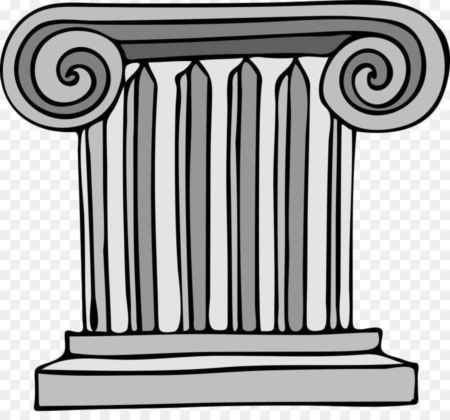 Column clipart. Clip art architecture line