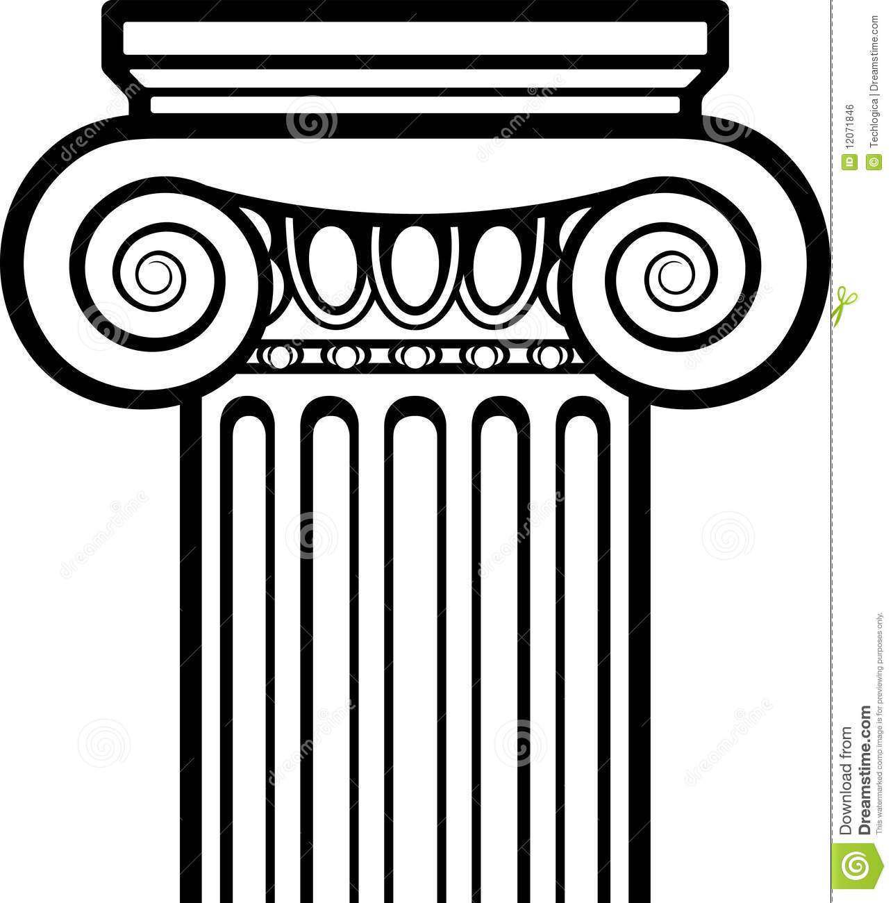 Architecture greek pencil and. Column clipart