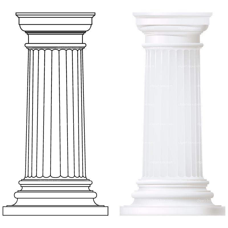 Free pillar cliparts download. Column clipart
