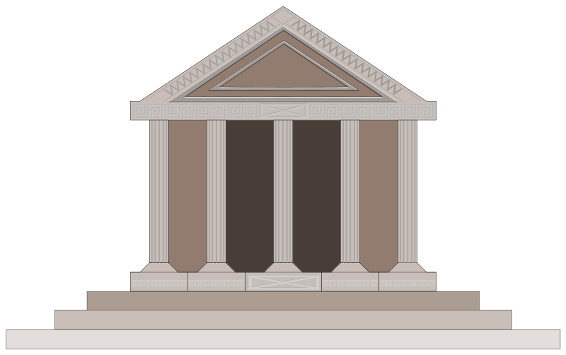collection of ancient. Greek clipart simple building