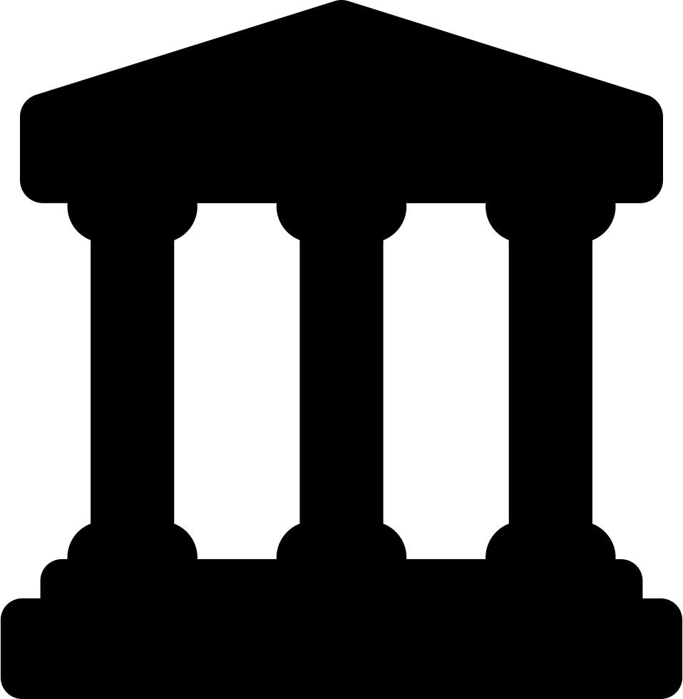 Bank with columns svg. Column clipart building rome