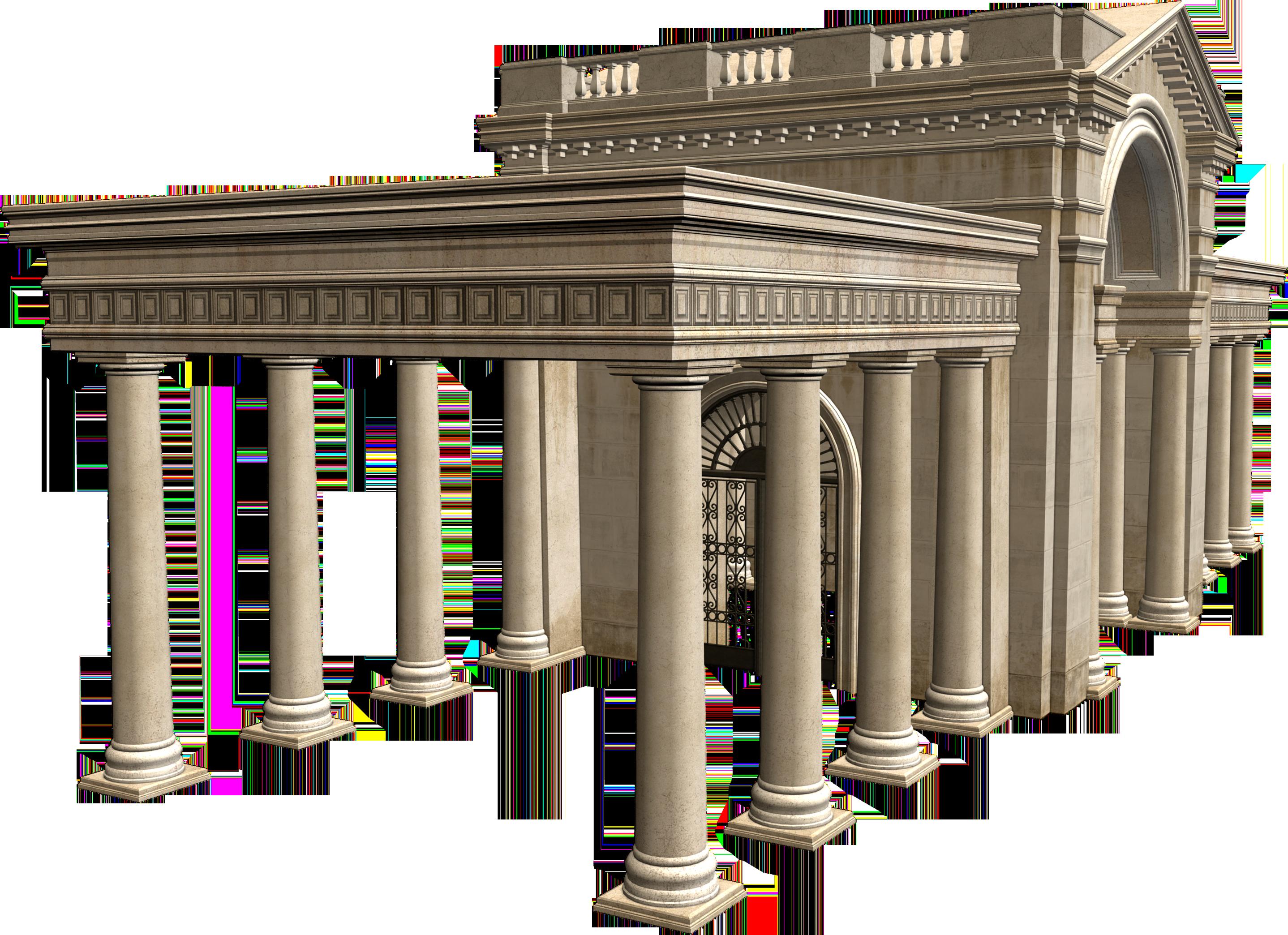Architecture clip art palace. Column clipart building rome