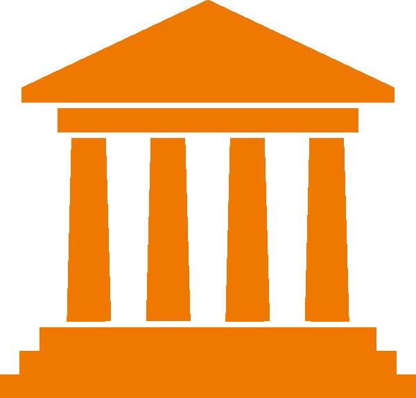 Column clipart buliding. Orange ancient building clip