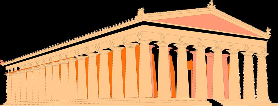 Parthenon free stock photo. Greek clipart transparent