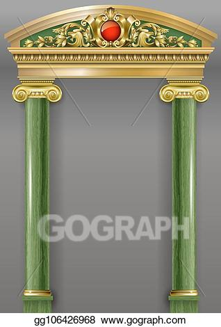 Vector stock golden luxury. Column clipart classic