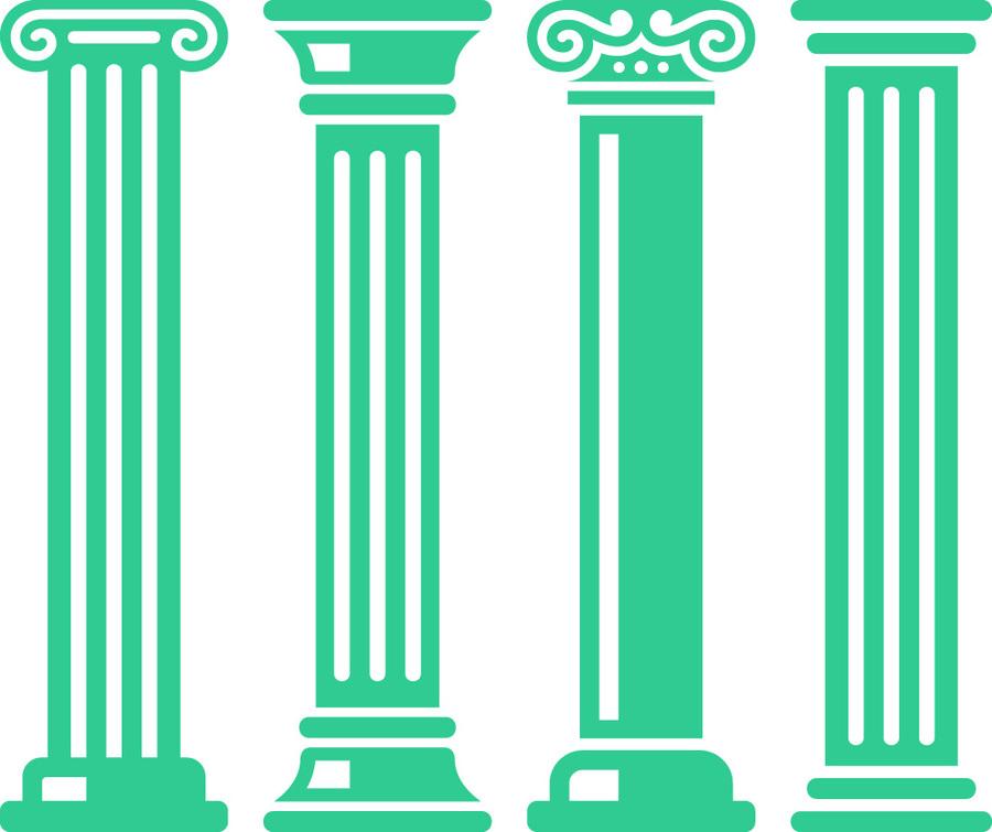 Download ancient pillars . Column clipart clip art