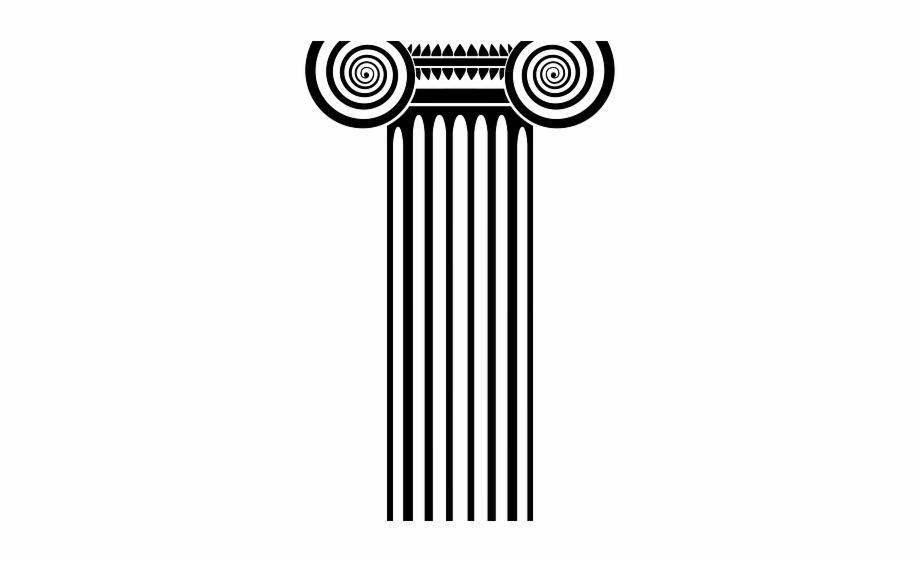 Columns ionic capital transparent. Column clipart clip art
