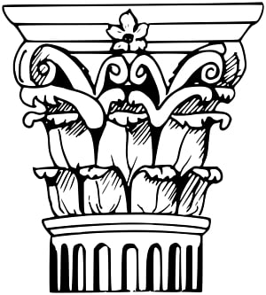 Column clipart drawn. Parthenon corinthian order painting