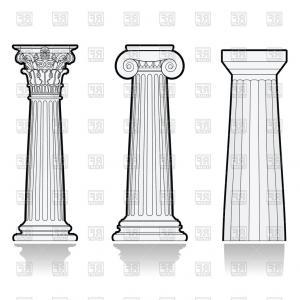 Column clipart drawn. Greek pillar drawing at