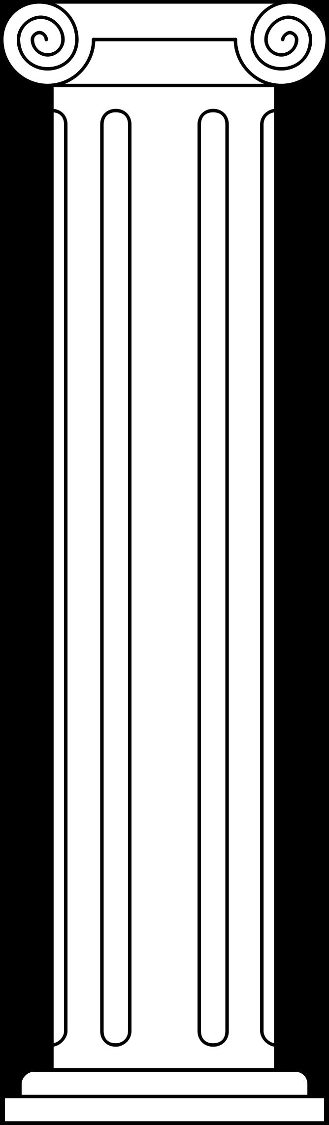 Greek clipart greek pillar. Heraldic charge column icons