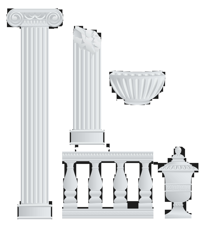 Column clipart flag greek. Fence columns and elements