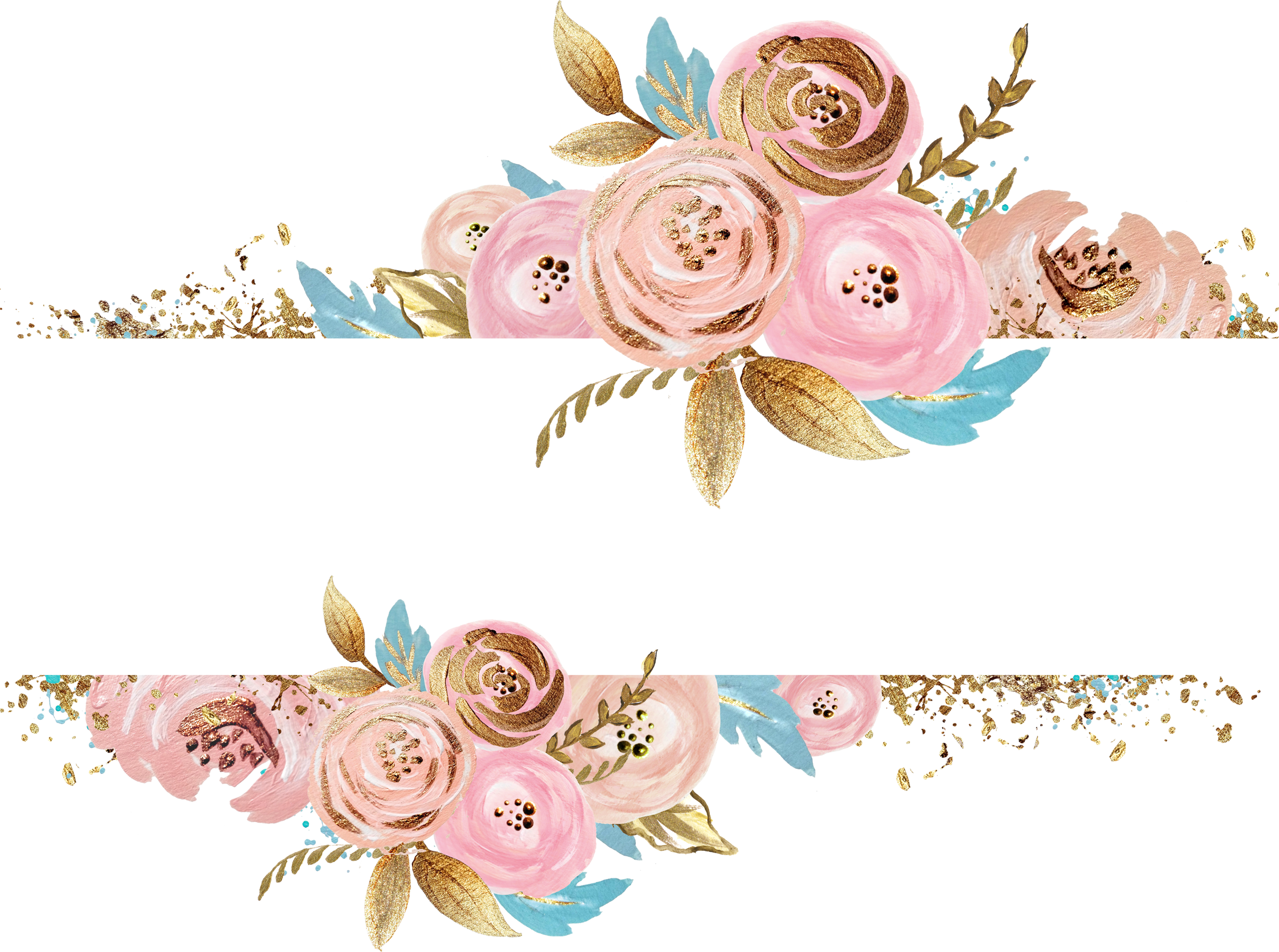 Column clipart gold. Paper watercolor painting flower