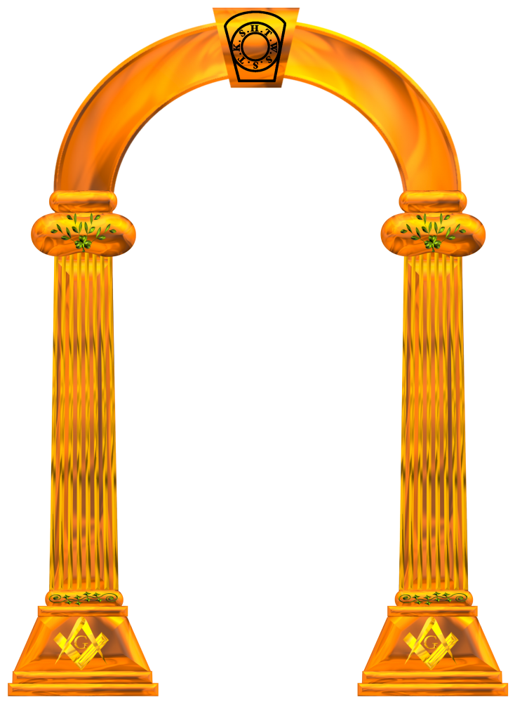 Column clipart gold. Www masonic art co