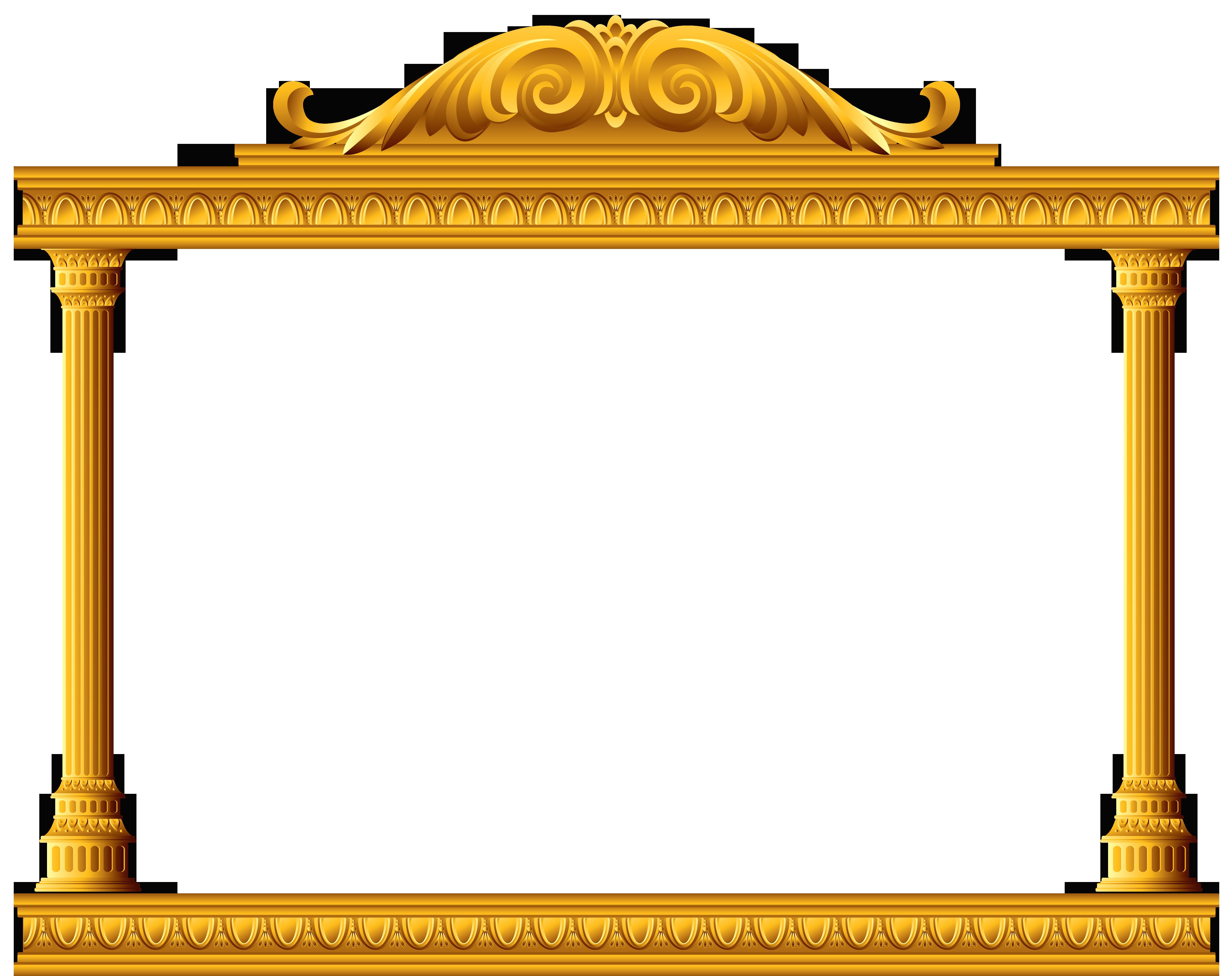 Column clipart gold. Transparent scene deco element