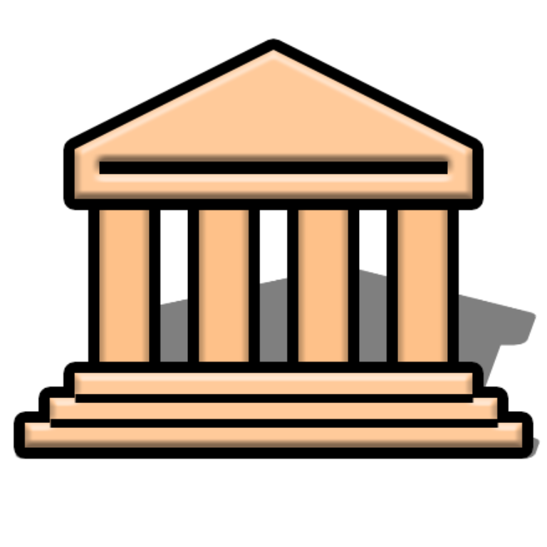 File map symbol museum. Column clipart greece ancient