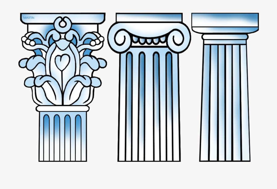 Download columns drawing ancient. Greece clipart greek pillar
