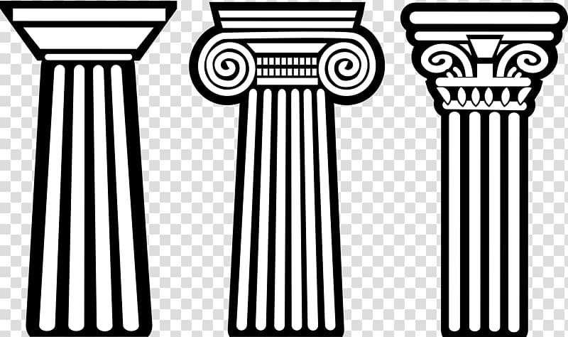 Doric order greek architectural. Column clipart greece ancient