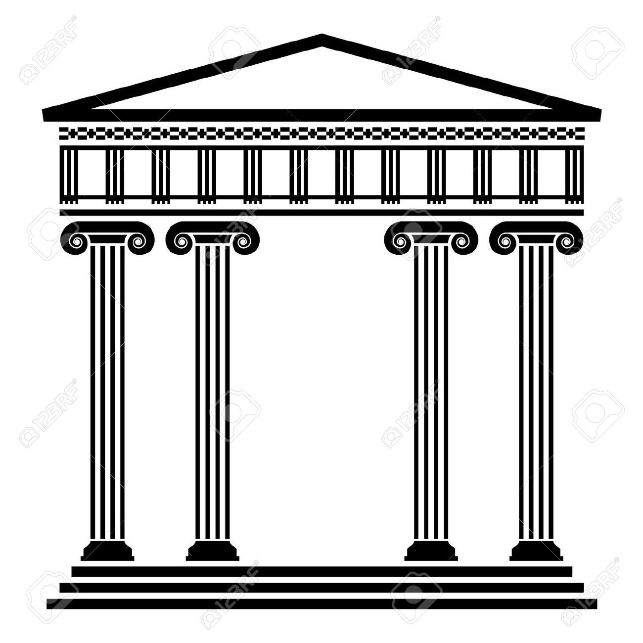 Stock vector sca . Greece clipart ancient greek architecture