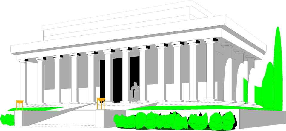 Lincoln memorial free stock. Rome clipart ancient temple