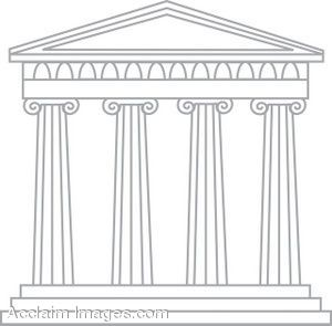 Cartoon drawings of gods. Greek clipart old temple