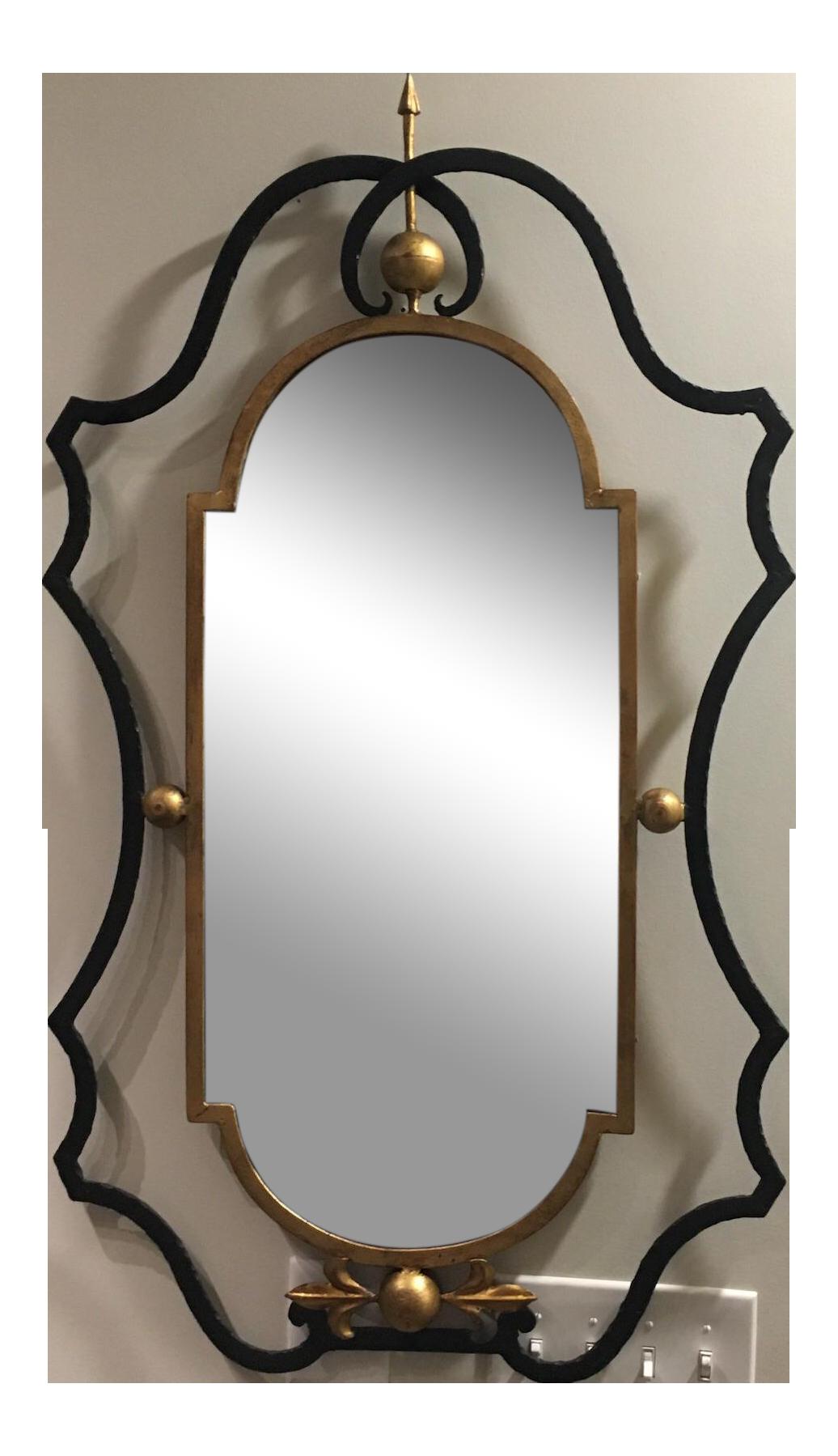 Mirror clipart rectangular mirror. Gilbert poillerat style wrought