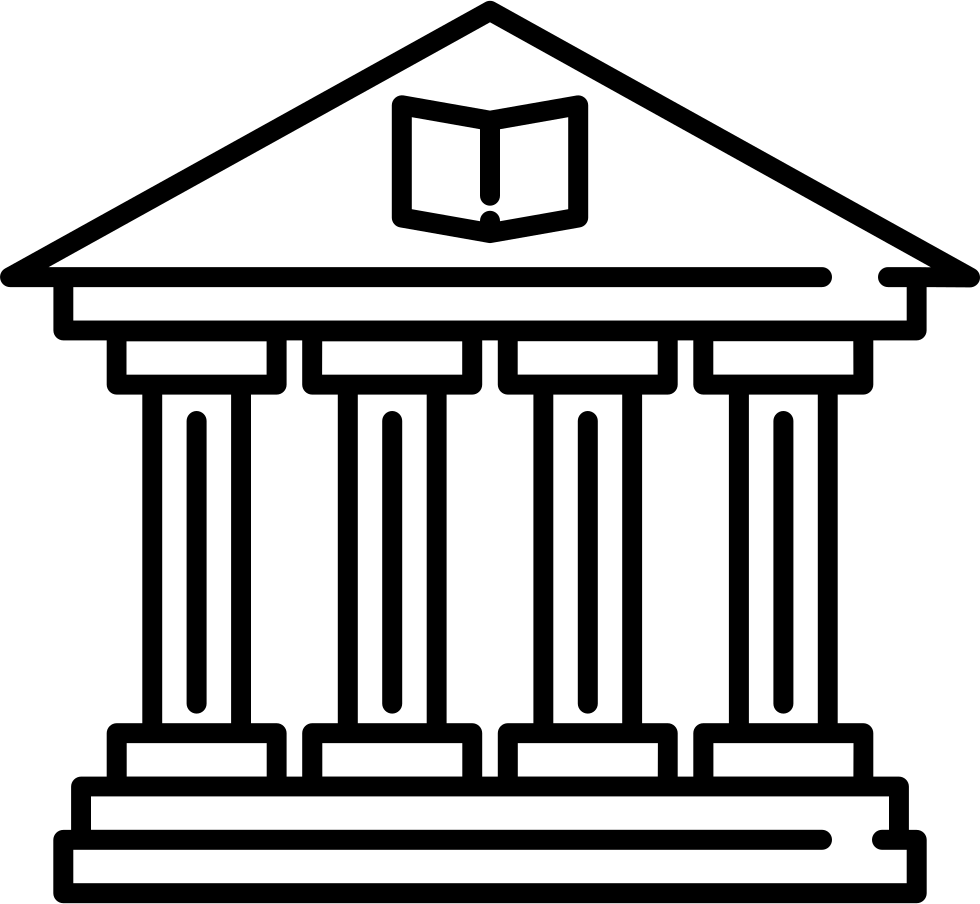 Building svg png icon. Library clipart old library