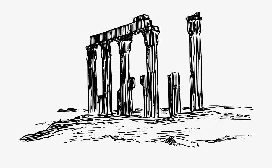Greek clipart old temple. Ruin free