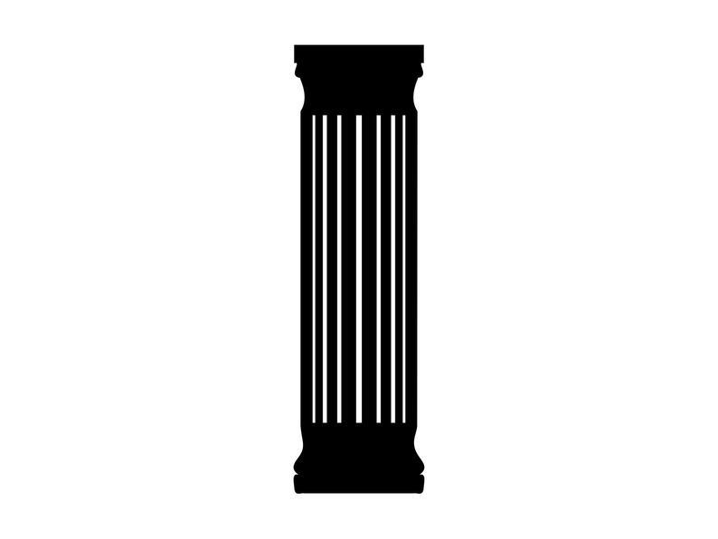 Column clipart pedestal. Svg pillar cut file