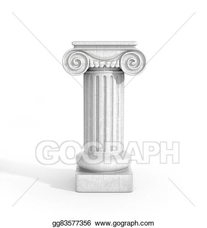 Stock illustration tall doric. Column clipart pedestal