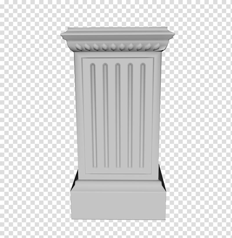 Column clipart pedestal. Gray pillar transparent background