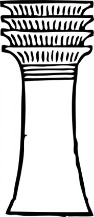 Column clipart pillar. Free outlines and vector