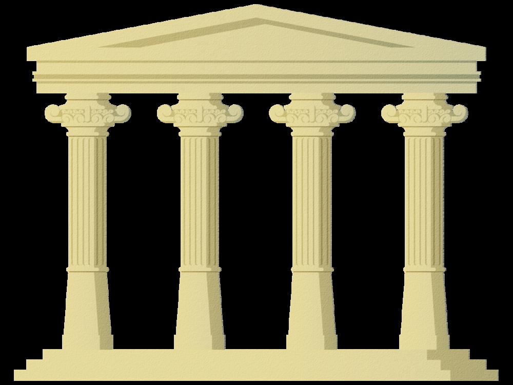 Introducing the four pillars. Column clipart pillar