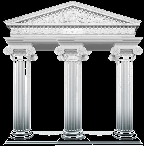 Social media organization marketing. Column clipart pillar