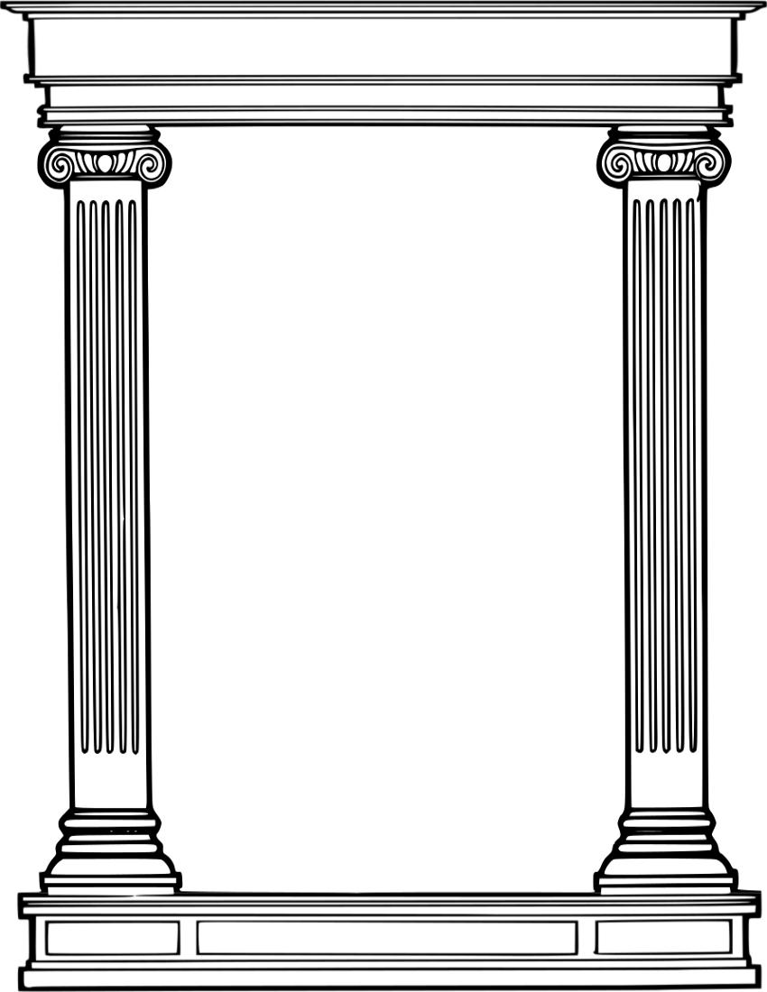 Roman pillars cliparts zone. Column clipart pillar