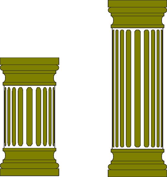 Column clipart pillar. Clip art at clker