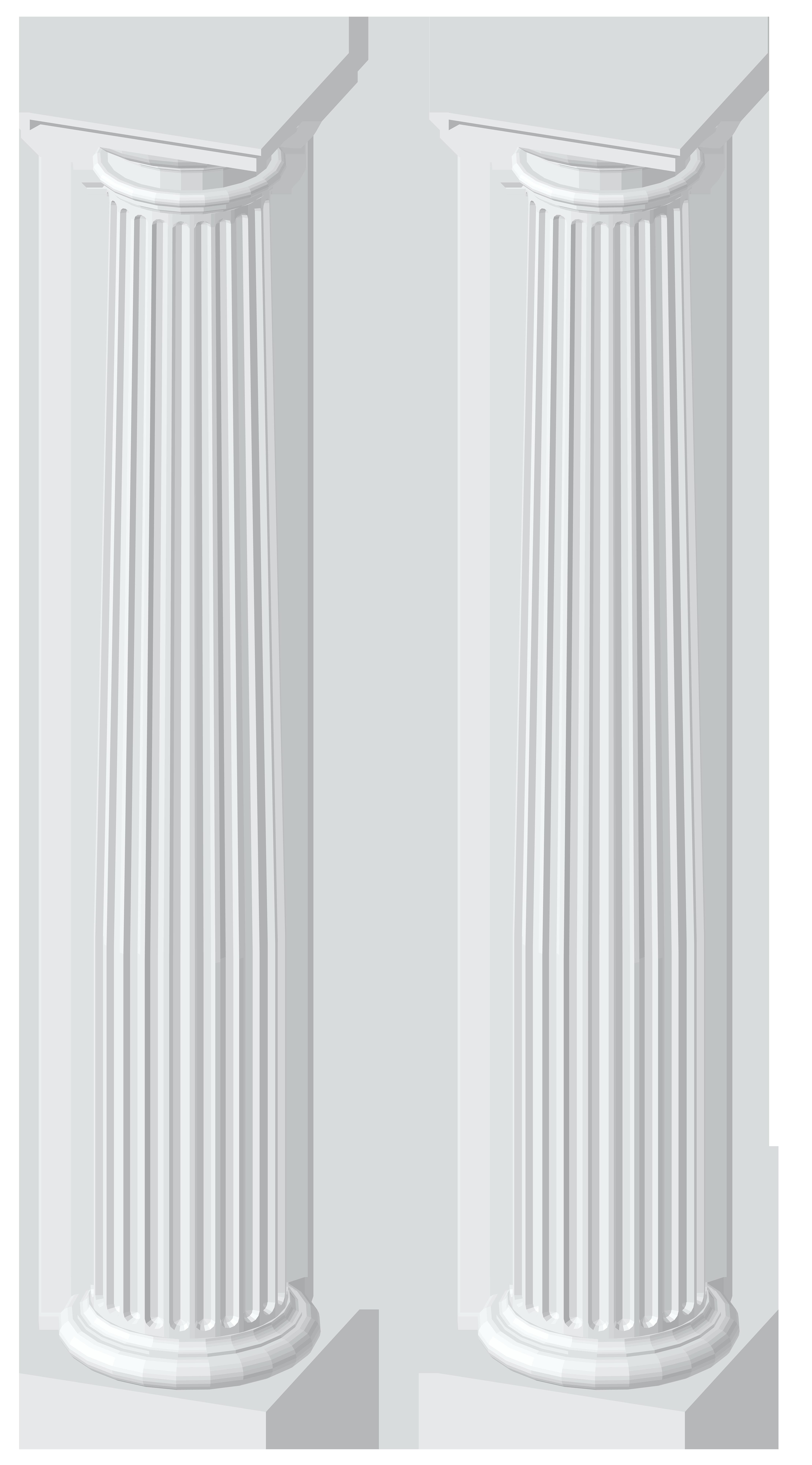 White columns transparent png. Column clipart pillers