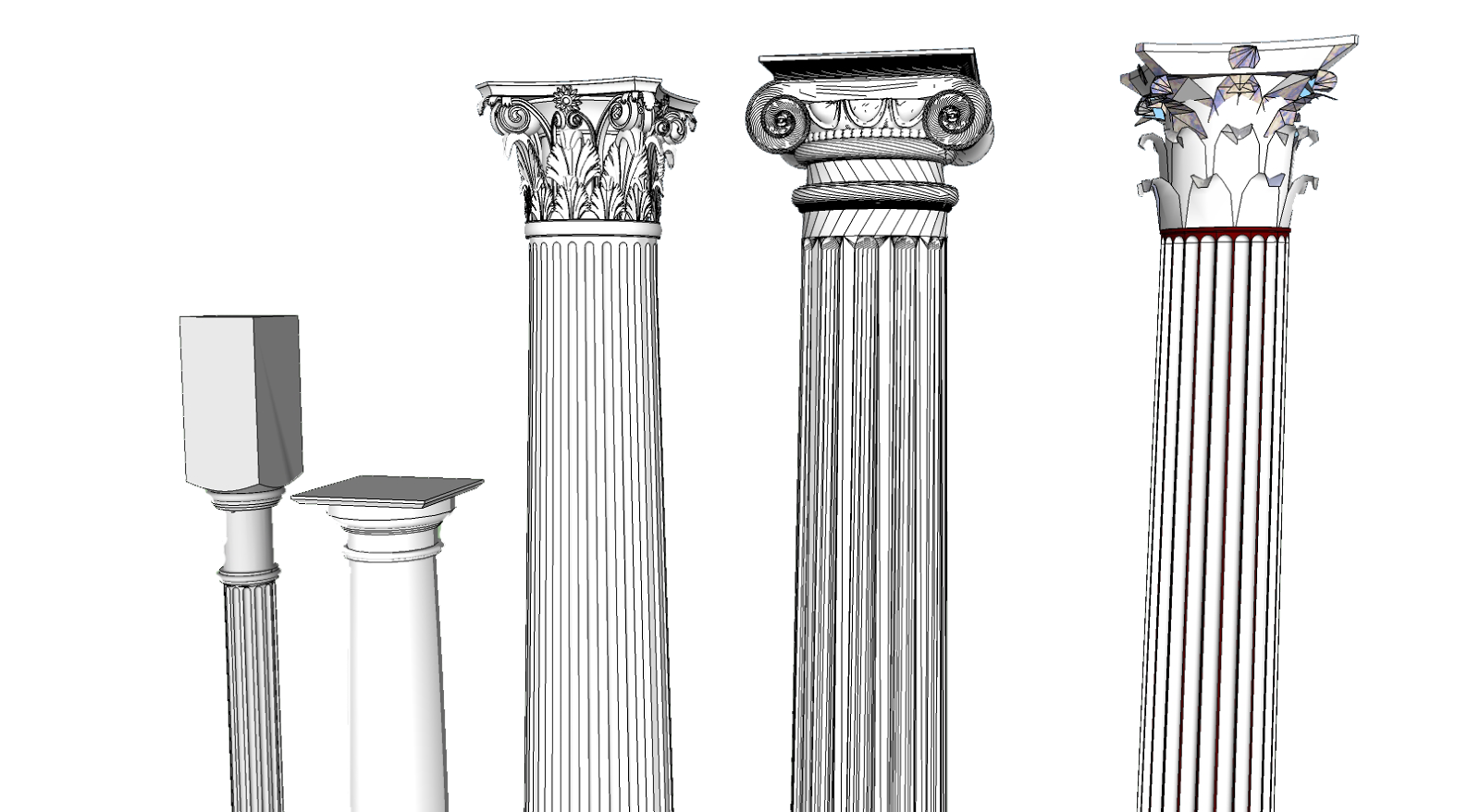 Architecture columns types lostark. Greek clipart greek pillar