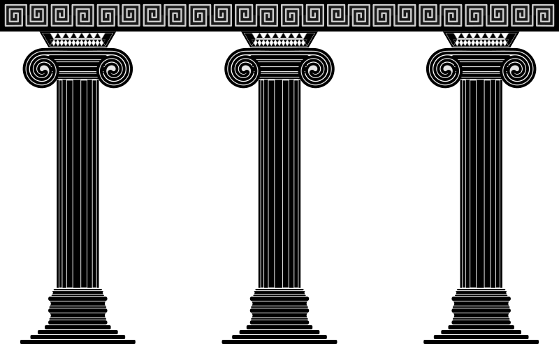 Three columns medium image. Greek clipart greek pillar