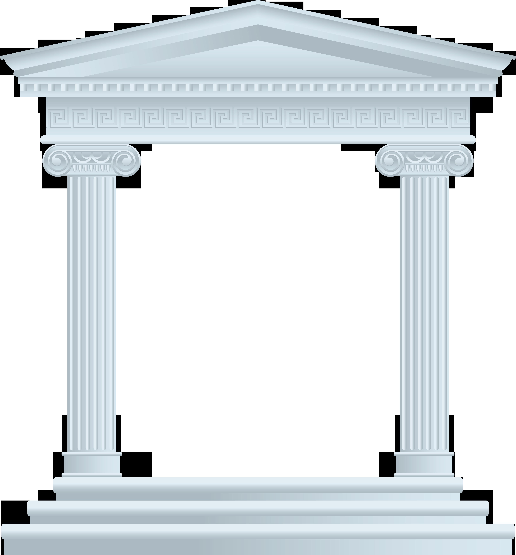 Column clipart roman temple. Architecture building monument arrogant