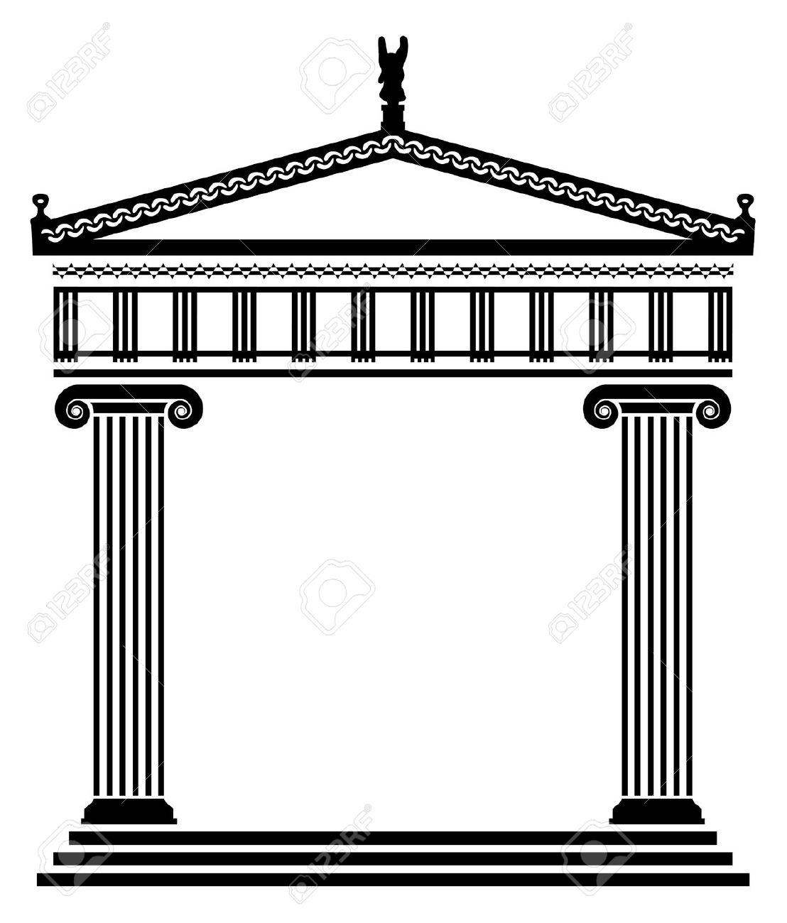 Column clipart roman temple. Free greek cliparts download