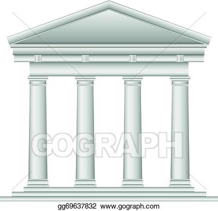 Eps vector tuscan stock. Column clipart roman temple