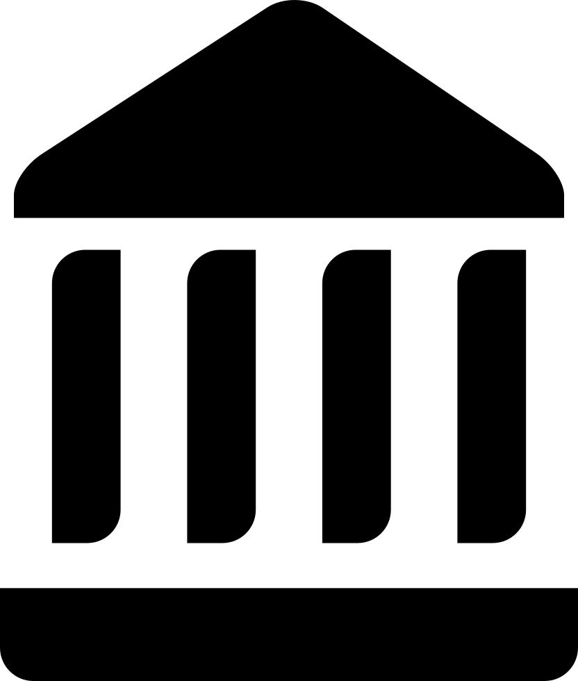 Magazine clipart newspaper column. Monument temple columns svg
