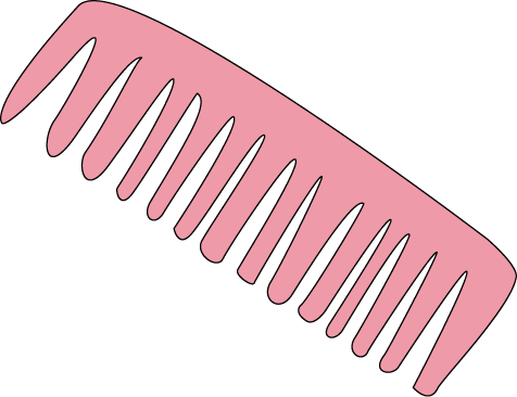 Hair . Comb clipart