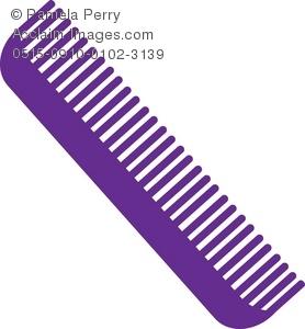 Comb clipart. Clip art illustration of