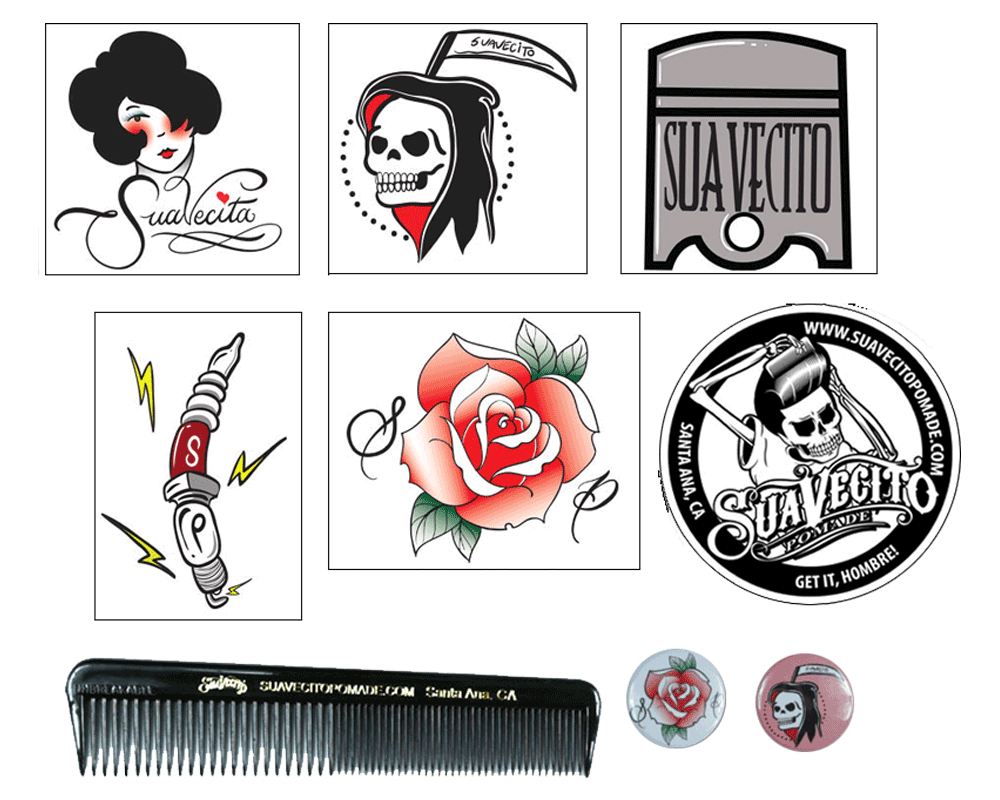 Suavecito pomade collectible . Worry clipart survival kit