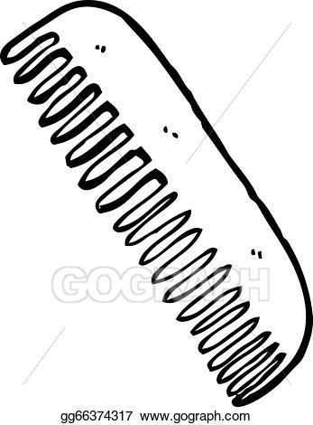 Vector illustration hair eps. Comb clipart cartoon